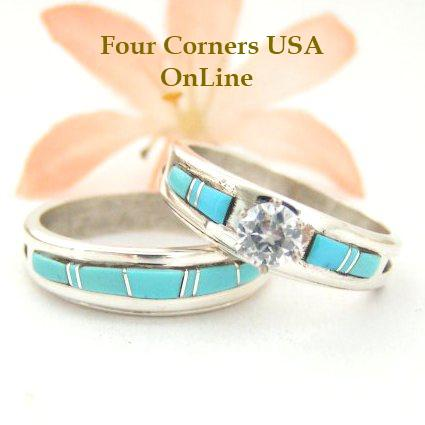 Native American Wedding Rings Navajo Turquoise Wedding Rings